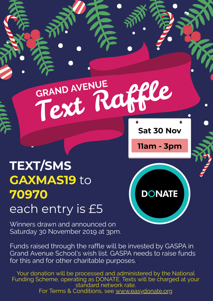 Christmas fair text raffle